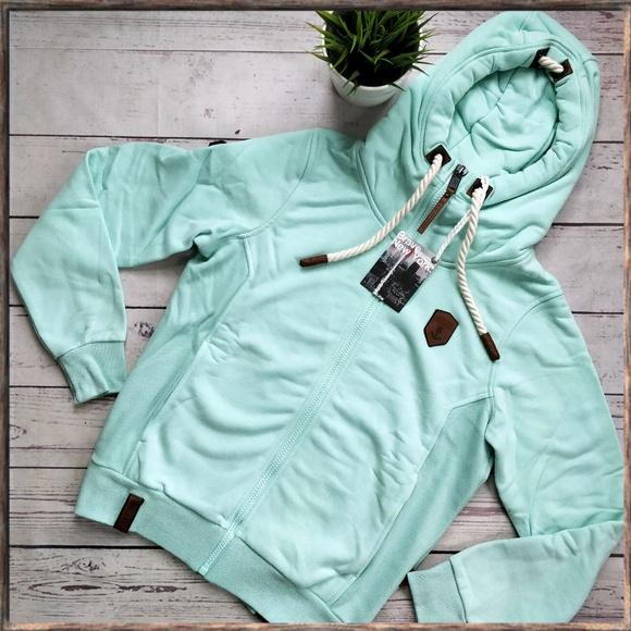 NWT NAKETANO Men's Birol XI Hooded Zip Jacket Mint NWT